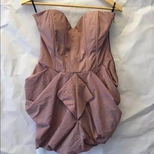 Bebe Dusty Pink Strapless Sweetheart Dress Size Me